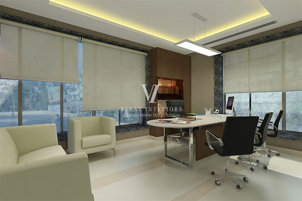Office interior designing interior designer surat gujarat for Director office room design